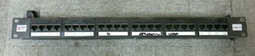 "Connectix 009-001-009-09 19"" CAT5e 1U 24 Port RJ45 Elite Patch Panel Black"